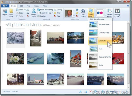 Windows Live Photo Gallery Version Plugin